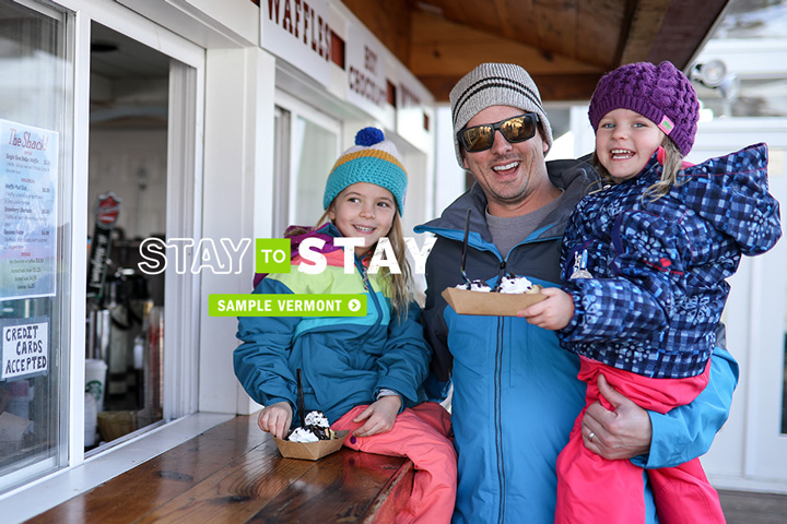 Dad with daughters stay to stay ski weekends